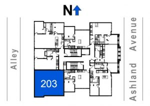 203- 2 Bedroom - 1 Bath