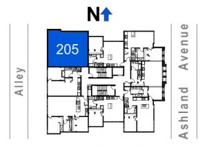 205- 2 Bedroom - 1 Bath