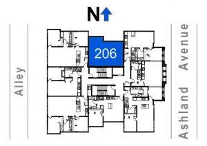 206- 1 Bedroom