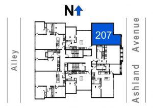207- 1 Bedroom