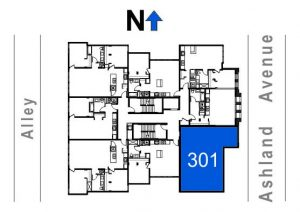301- 2 Bedroom - 2 Bath w/Cathedral Ceilings